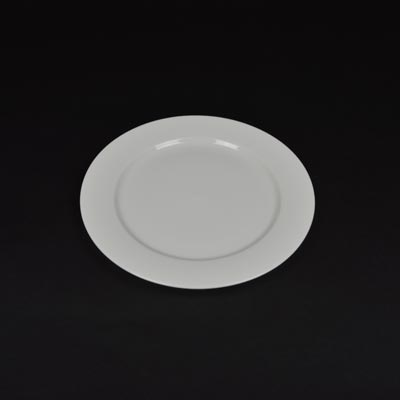 "Orion White 8"" Wide Rim Plate"