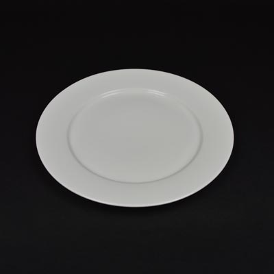 "Orion White 10"" Wide Rim Plate"