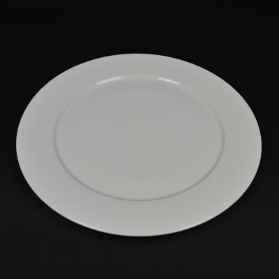 "Orion White 12"" Wide Rim Plate"