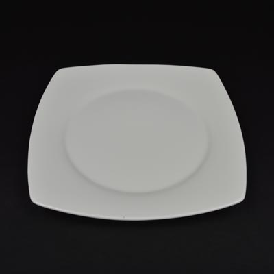 "Orion White 10.5"" Square Coupe Plate"