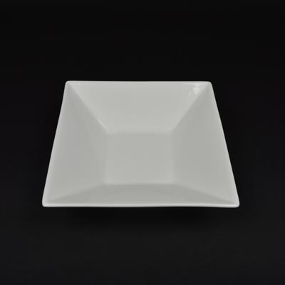 "Orion White 8"" Deep Square Bowl"