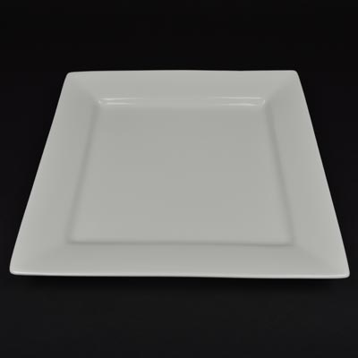 "Orion White 12"" Square Plate"