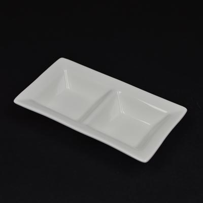 Orion White Divided Dip Dish