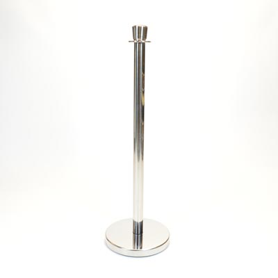Chrome Pole Upright Barrier