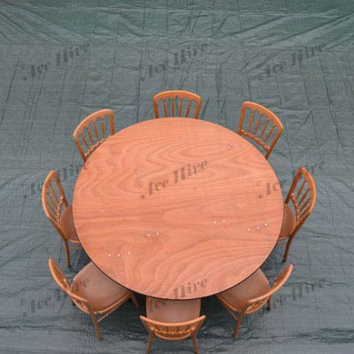 Wooden 5ft Round Table (6-8 People)