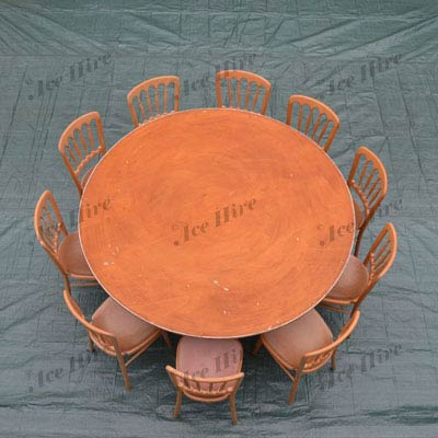 "Wooden 5ft 6"" Round Table (8-10 People)"
