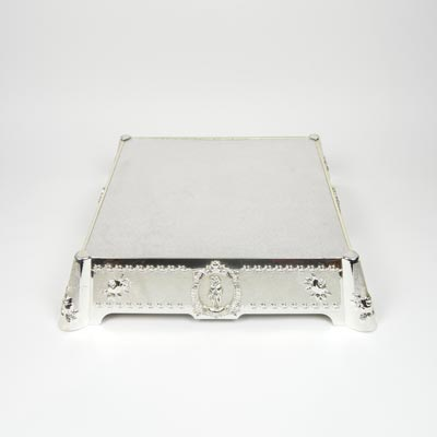 "13"" Square Cake Stand Lovers & Roses"