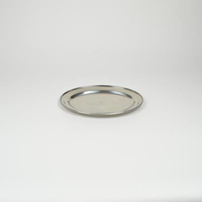 "12"" Stainless Steel Flat Oval Platter"