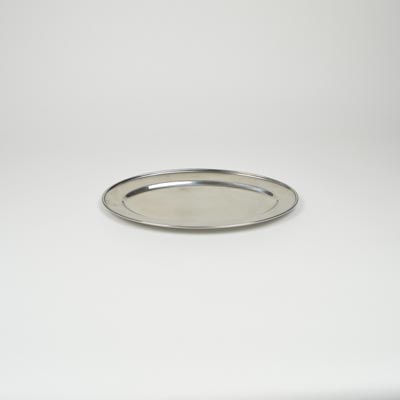 "14"" Stainless Steel Flat Oval Platter"