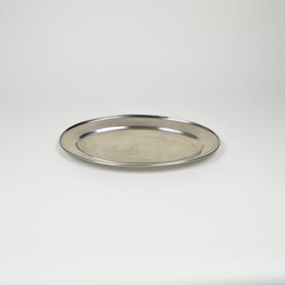 "16"" Stainless Steel Flat Oval Platter"