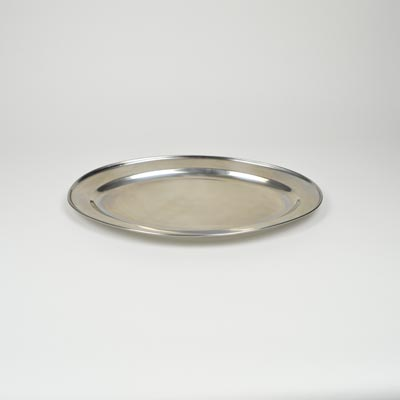 "18"" Stainless Steel Flat Oval Platter"