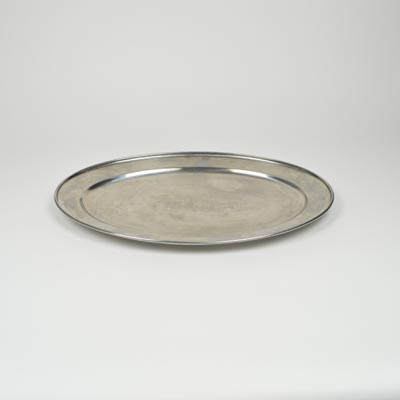 "20"" Stainless Steel Flat Oval Platter"