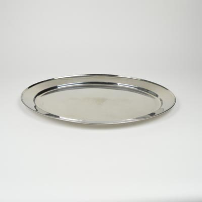 "22"" Stainless Steel Flat Oval Platter"