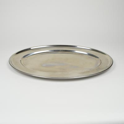 "24"" Stainless Steel Flat Oval Platter"