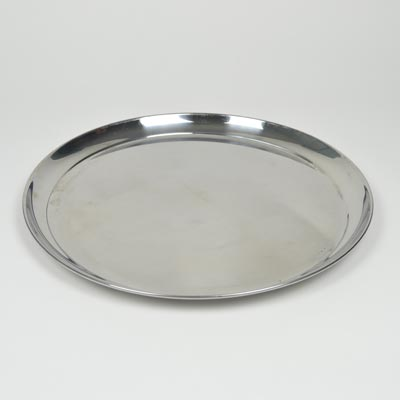 "16"" Stainless Steel Round Tray"